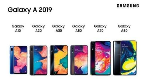 Imagen de todos los modelos de celulares samsung linea A de 2019